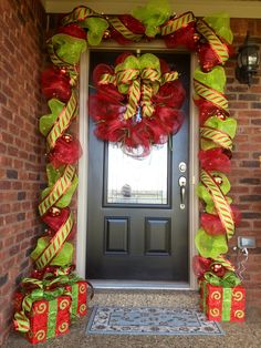 Deco Mesh and Ribbon Entry Way for Christmas decorating a christmas tree with deco mesh Poly Deco Mesh Creatio…