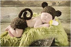 Crochet newborn Baby Boy Girl Furry Monkey Hat and diaper set  Baby hat animal hat MADE TO ORDER photography prop shower gift