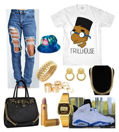 Trillhouse by imanifashions on Polyvore featuring polyvore fashion style Boohoo Casio Cyrus ASOS Charlotte Russe Lipstick Queen Milkcrate clothing