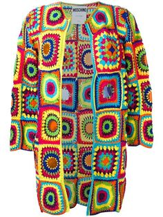 Shop Moschino crochet cardigan.