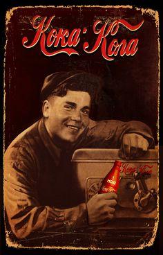 Vintage Coca Cola posters