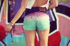 ombre shorts <3