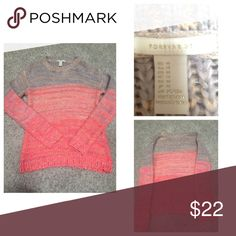 🎉1 Hour Sale🎉 Forever21 Color Block Sweater Cream to Pink size Medium Forever21 sweater. Excellent Used Condition!  100% acrylic. No stains, no wear or tear.  Will negotiate! Feel free to make an offer. Forever 21 Sweaters Crew & Scoop Necks