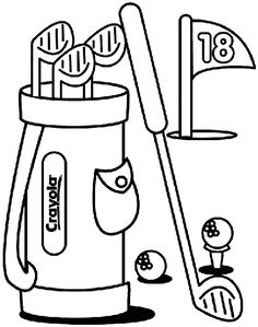 make a hole in one with this golf coloring page - Free Printable Sports Coloring Pages