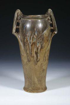 Vase France Vierzon Porcelain Art  Nouveau