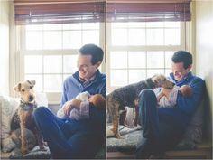 Natural light newborn photo idea   Dog pose   E Schmidt Photography   Metro Detroit Newborn Lifestyle Photographer