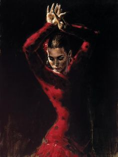 Fabian Perez Paintings | Flamenco Dancers Paintings