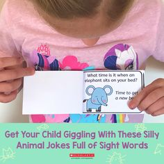 Get your kids laughing and reading with this printable collection of jokes. Craft Activities For Kids, Preschool Crafts, Crafts For Kids, Reading Help, Kids Laughing, Joke Book, Jokes For Kids, Animal Jokes, Bedtime