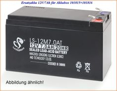 Ersatzakku 12V/7Ah 901034 die für Akkubox 101816