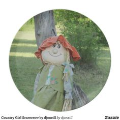 Country Girl Scarecrow by djoneill Plate