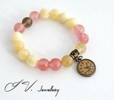 Quartz Jadeite Clock Bracelet Luxury Spring by IvJewellery on Etsy