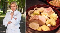 Det enkle er som regel det beste når kjøkkensjef Heidi Bjerkan ved Slottet skal… Main Dishes, Fish, Ethnic Recipes, Main Course Dishes, Entrees, Pisces, Main Courses