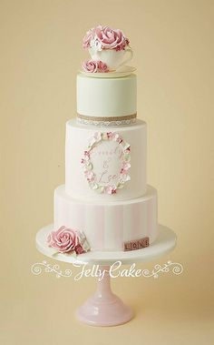 Teacup and Roses Wedding Cake | Flickr - Photo Sharing!
