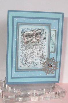Santa Collage - Homemade Cards, Rubber Stamp Art, & Paper Crafts - Splitcoaststampers.com