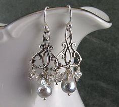 Akoya saltwater pearl chandelier earrings by envydesignsjewelry