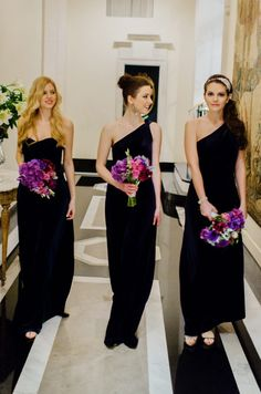 Black Bridesmaid Dresses. Damn! We looked hottt in ours! @koriyeung @lfiandaca @amberteo