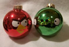 Angry Birds Ornaments Unique Gift Idea CUSTOMIZED by HSipesStudio