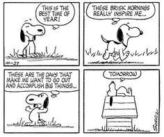 oct 27, 1962, even snoopy's a procrastinator.