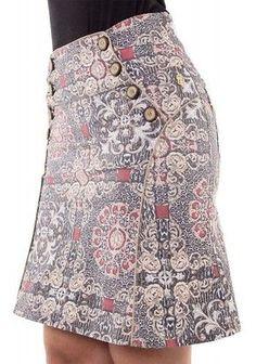 saia estampada botoes evase via tolentino viaevangelica 5 Romper With Skirt, Blouse And Skirt, Dress Skirt, Queen Fashion, Boho Fashion, Fashion Outfits, Womens Fashion, Winter Dress Outfits, Skirt Outfits