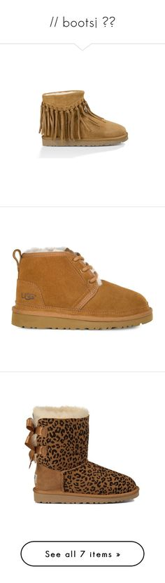 """""""// boots¡ 💓🍂"""" by lowkeymufasa ❤ liked on Polyvore featuring shoes, boots, uggs, water resistant shoes, lightweight boots, boho shoes, mini shoes, lightweight shoes, ankle booties and chestnut"""