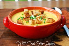 Will Cook For Smiles: Butternut Squash Potato Soup {I'll get them to eat and enjoy butternut squash yet!}