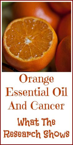 Orange essential oil and cancer. What we know and what the research shows.