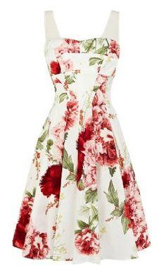 Karen Millen floral dress for spring