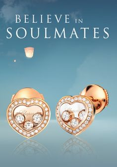 Happy Diamonds Icons heart-shaped #earrings in rose gold