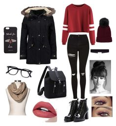 """""""Casual school day"""" by angela-reyes-2 on Polyvore featuring even&odd, 8 Other Reasons, Gucci and Merona"""