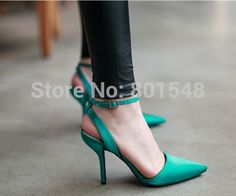 135.00$  Know more - http://ai0do.worlditems.win/all/product.php?id=32245634904 - 4pairs/lot  best selling European Silk Buckle Design Point Toe Lady High Heels Woman Shoes Fashion Sexy High Heel Sandal ML1932