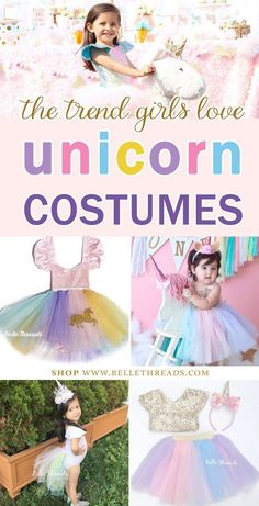 The pastel tutu rompers, tutu sets and even the unicorn tails from Belle Threads are some of our best selling unicorn costumes for halloween, photo shoots, birthday parties and even dance classes. The unicorn trend is one that's here to stay. Click to see