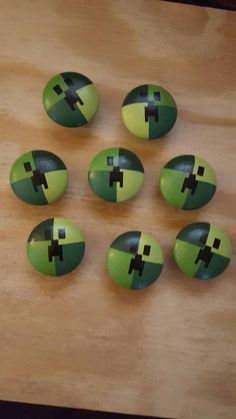 Minecraft wooden knobs by allabouthandcrafting on Etsy