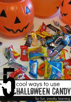 5 cool ways to use #halloween candy (other than eat all it immediately) | fun math, literacy, and learning activities #weteach