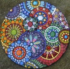 Diy Outdoor Art Mosaic Tables 54 Ideas For 2019 Mosaic Crafts, Mosaic Projects, Mosaic Art, Mosaics, Blue Mosaic, Mosaic Ideas, Mosaic Designs, Mosaic Patterns, Easy Patterns