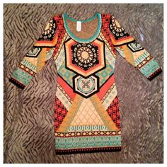 Multi Colored Sweater Dress Adorable with leggings or your favorite boots! Sizes Sm-L $43.99