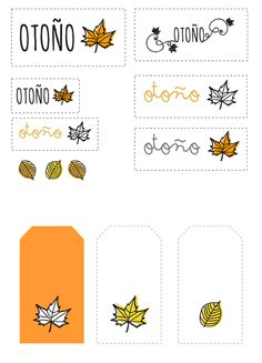 Etiquetas con motivos otoñales.  Descargar gratis en:  http://manualidades.euroresidentes.com/2013/09/etiquetas-motivos-otonales.html