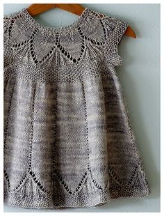 knit baby dress--I will have to make this!