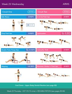 Week 23 Wednesday  Bikini Body Guide 2.0 by Kayla Itsines, weeks 13-24 (complete)