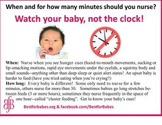 From Best for Babes: Watch your baby, not the clock! #breastfeeding #IBCLC