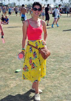 Coachella 2014: Festival Street Style. Beautiful bright skirt