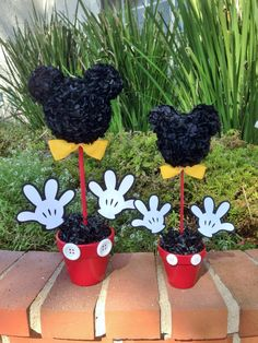 Mickey Mouse Centerpiece,  12 Inch  Mickey Mouse Party Decorations by MyCraftySides on Etsy https://www.etsy.com/listing/203331935/mickey-mouse-centerpiece-12-inch-mickey