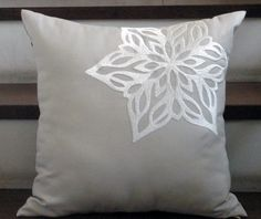 snowflake pillow!