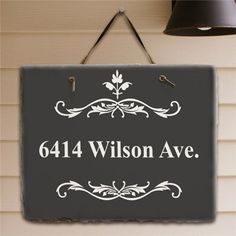 Filigree Welcome Slate Plaque | Personalized Housewarming Gift from GiftsForYouNow.com