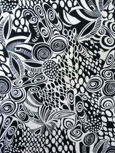 Black and White Op Art Print Stretch Cotton by fabricsandtrimmings