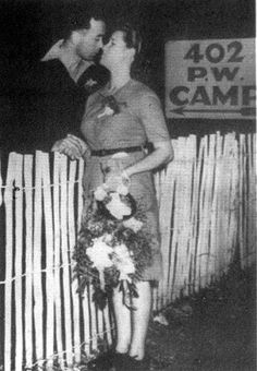 June Tull,  the first British girl to marry a German prisoner of war, on her wedding night with husband Heinz Fellbrich
