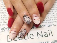 Nail Art - Beetle Nail : 八幡|ローズアート
