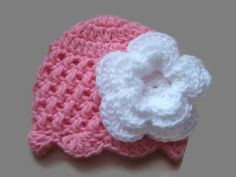 Baby girl hat, crochet baby hat, pink hospital hat, baby girl beanie, coming home outfit, newborn girl beanie, baby shower gift