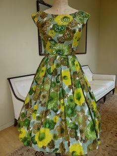 1950s Vintage Dress by Mort Schrader