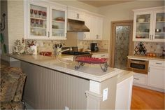 off white kitchen cabinets | Cappucino Glaze On Off White Cabinets Design Ideas, Pictures, Remodel ...