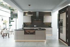 Ultimo Handleless Cashmere Gloss Kitchen (Lucente) | Better Kitchens Ltd